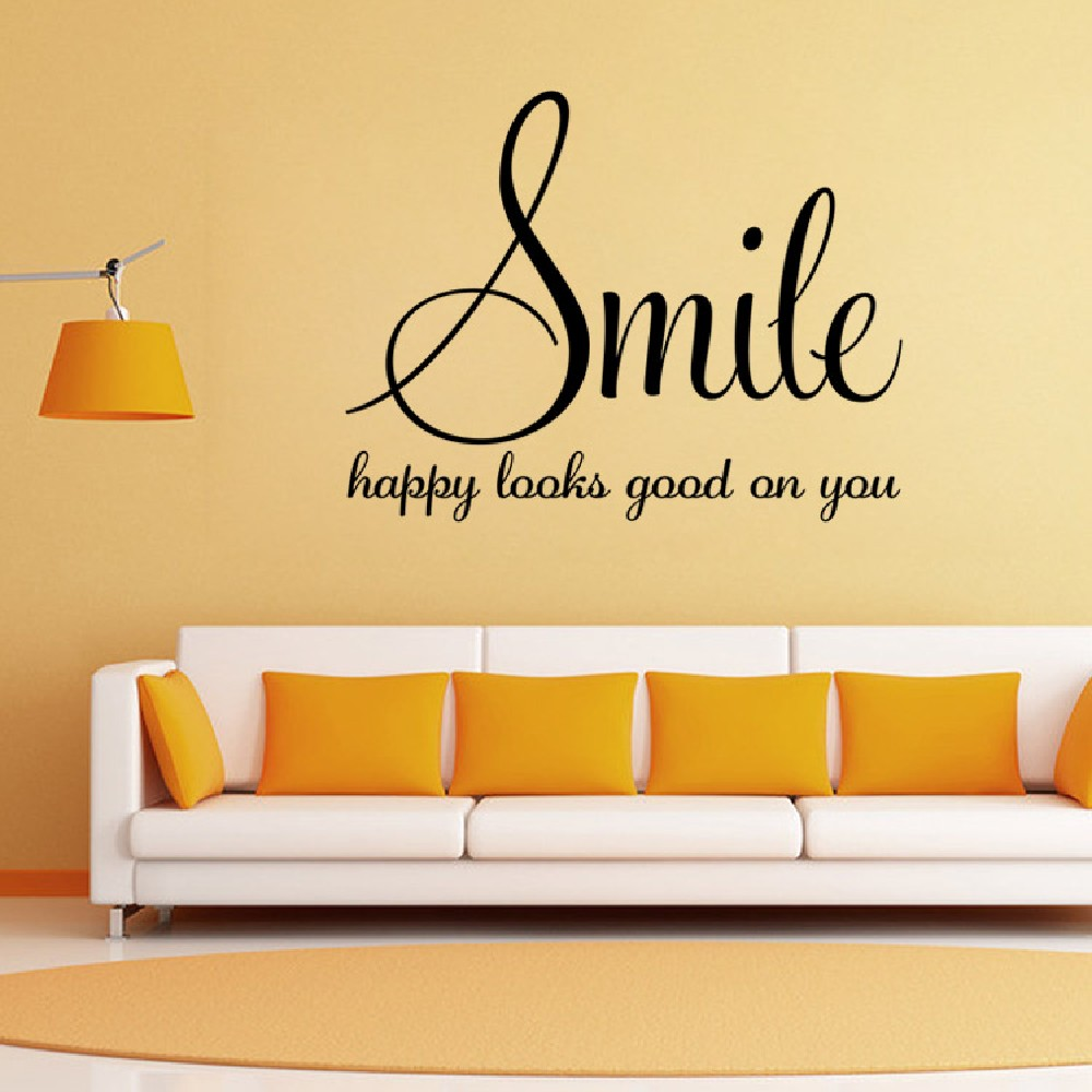 DSU Wall Sticker Quote Smile Decor For Kids Rooms Cute Nursery ...