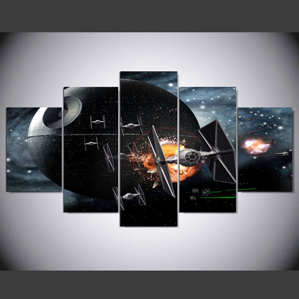 YSDAFEN 5 Pieces Star Modern Home Decoration Living Room Canvas Painting