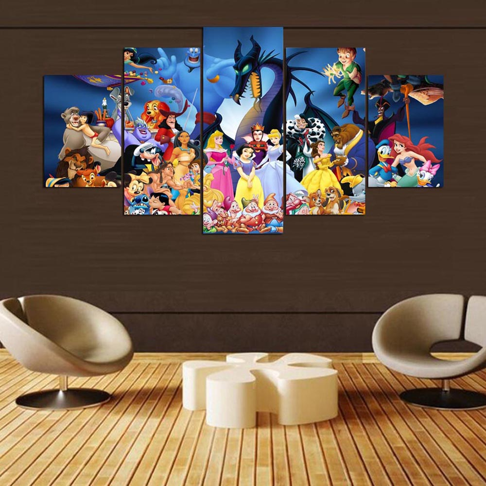 YSDAFEN 5 Pcs The Wall Art Canvas Pictures for Living Room Home Decor