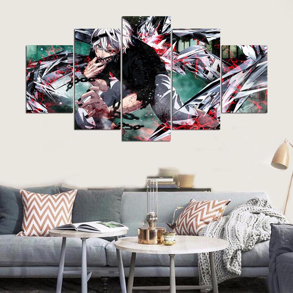 YSDAFEN 5 Panels Wall Art Anime 5 Pieces Canvas Paintings