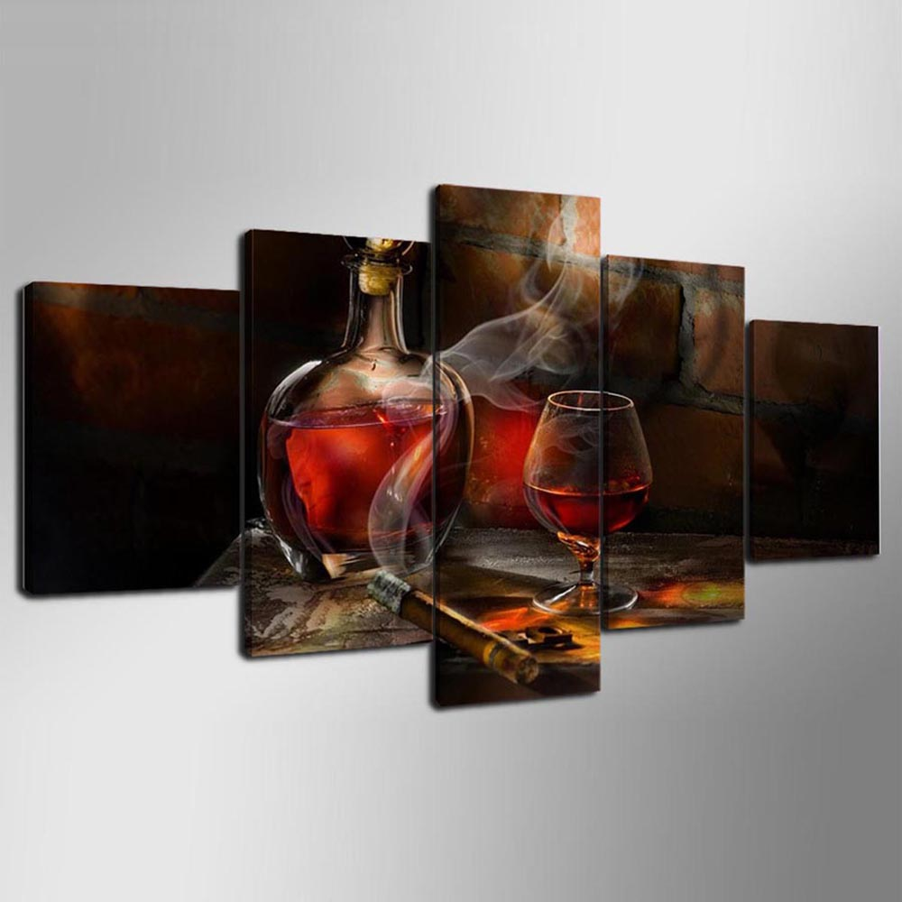 YSDAFEN 5 Pcs Modern Home Decor Wall Art Picture Living Room