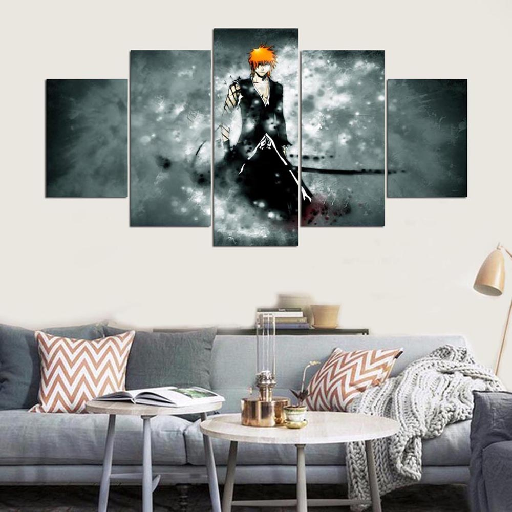 YSDAFEN 5 Panels On Canvas Room Decoration Print