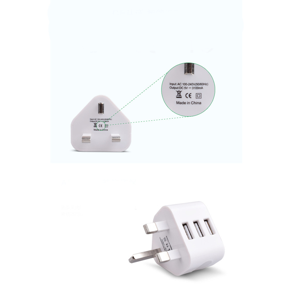 3USB 5V/2.1A Standard Charger Adapter