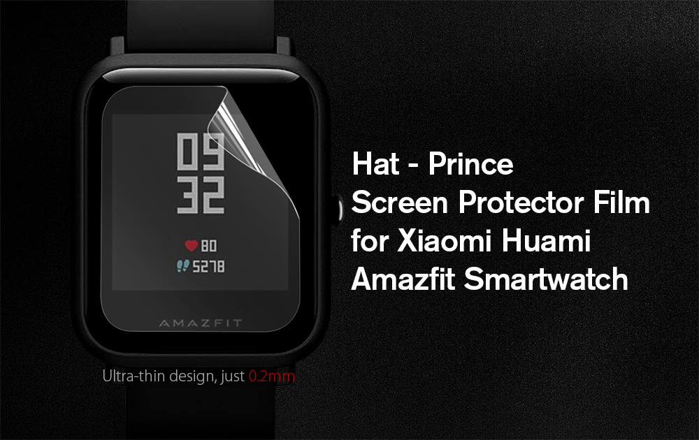 Hat - Prince High-definition PET Smart Watch Screen Protector Film for Xiaomi Huami Amazfit 2PCS