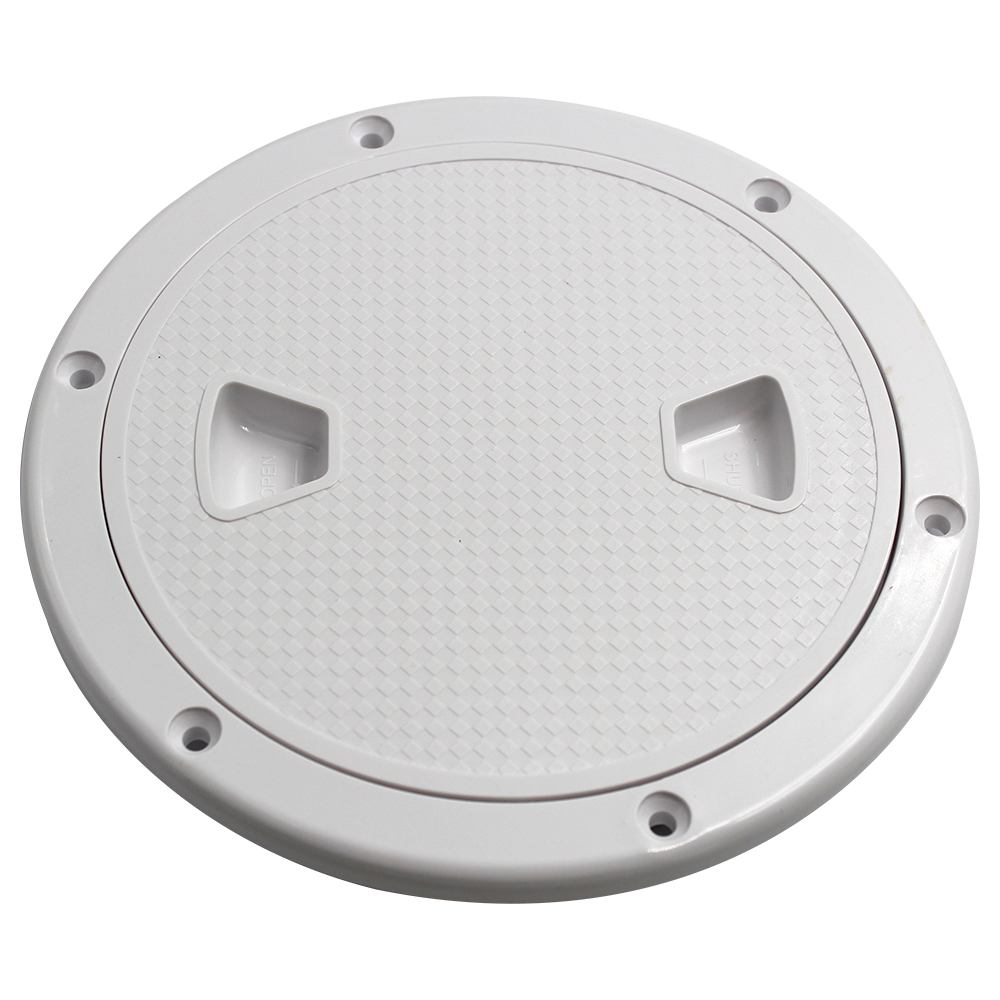 Round Boat Marine Inspection Hatch Deck Plate Access RV Plastic 6inch White