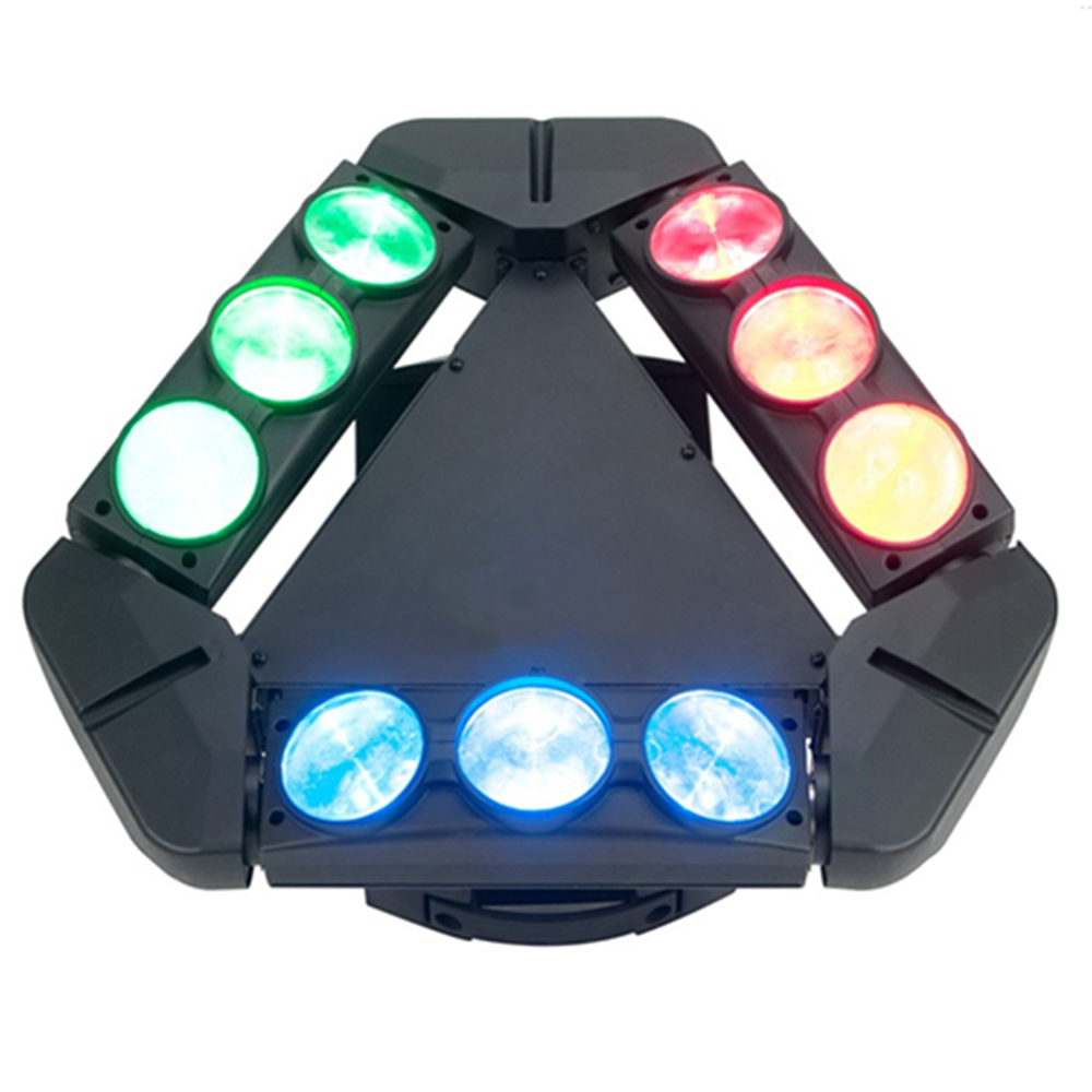 Club DJ Spider Beam Light 9 LEDs Spider Moving Head