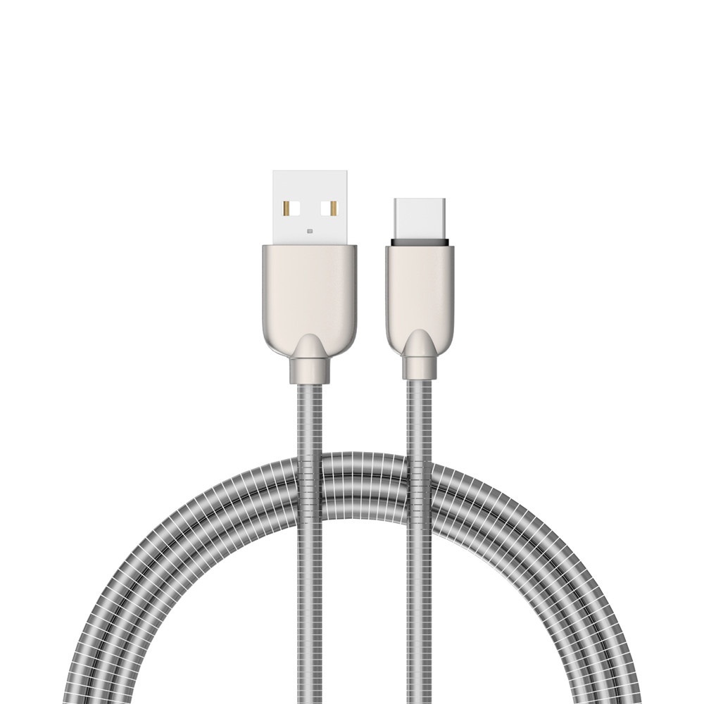 1M Zinc Alloy Fast Data Charging Cable for Type-C Devices