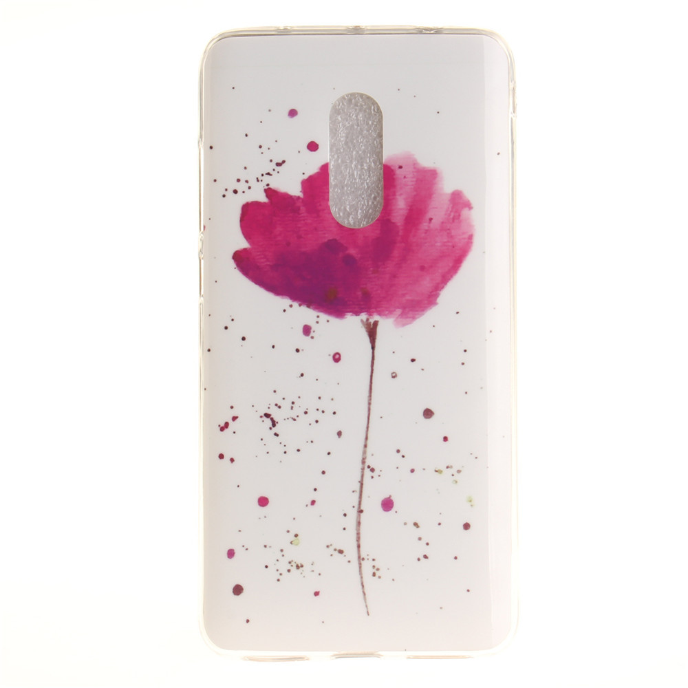Song For Orchid Soft Clear IMD TPU Phone Casing Mobile Smartphone Cover Shell Case for Xiaomi Redmi Note 4X