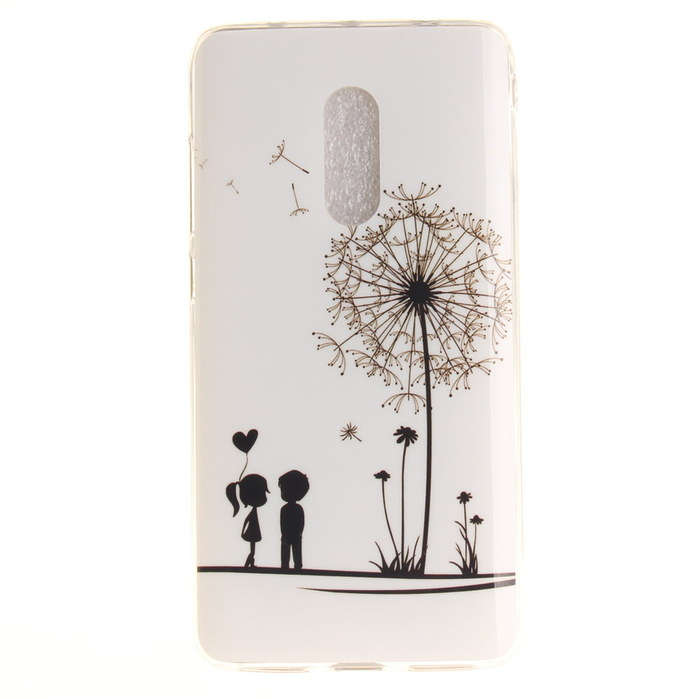 Dandelion Soft Clear IMD TPU Phone Casing Mobile Smartphone Cover Shell Case for Xiaomi Redmi Note 4X