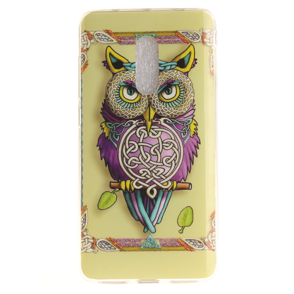 Owl Pattern Soft Clear IMD TPU Phone Casing Mobile Smartphone Cover Shell Case for Xiaomi Redmi Note 4X