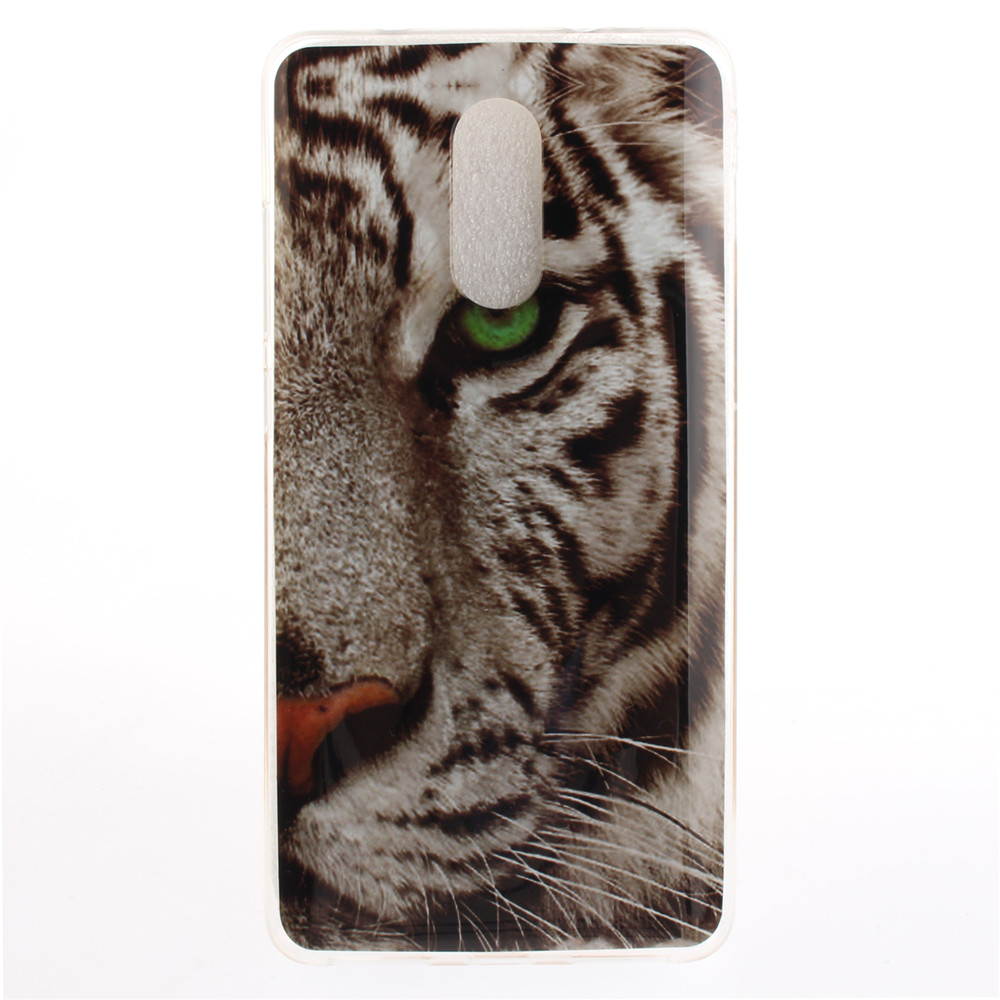 The Tiger Pattern Soft Clear IMD TPU Phone Casing Mobile Smartphone Cover Shell Case for Xiaomi Redmi Pro