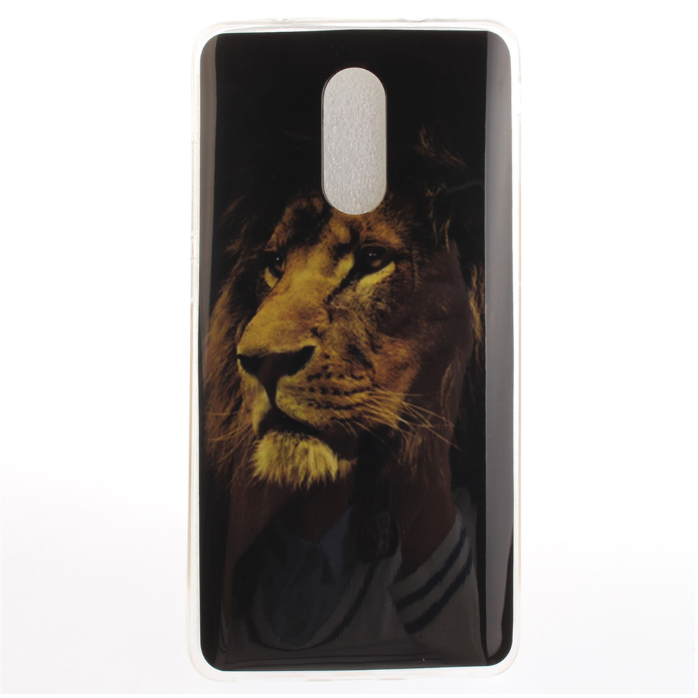 The lion pattern Soft Clear IMD TPU Phone Casing Mobile Smartphone Cover Shell Case for Xiaomi Redmi Pro