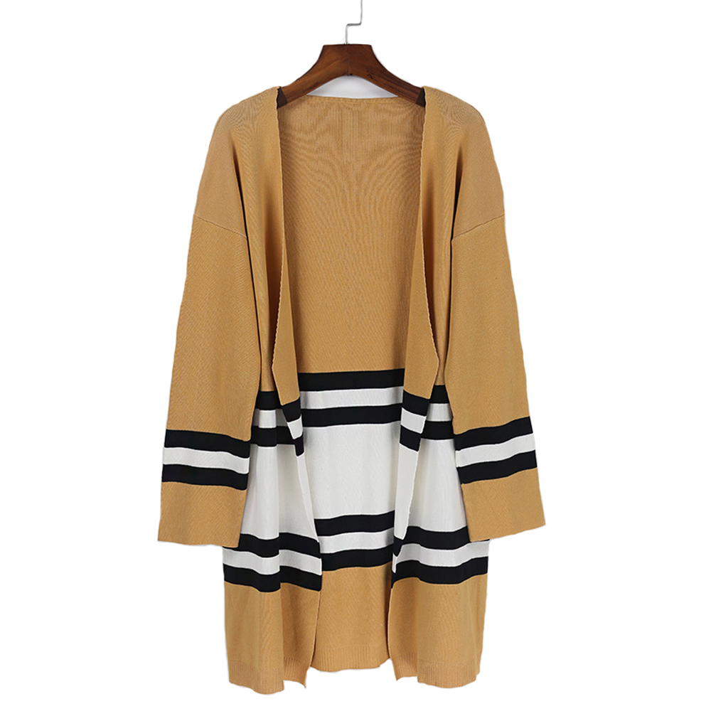 Yellow Autumn Winter Women'S New Knit Sweater Loose Sweaters ONE ...