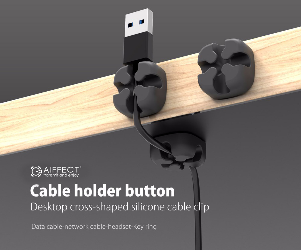 AIFFECT M1S - 12 Cable Winder Earphone Cable Organizer Wire ...