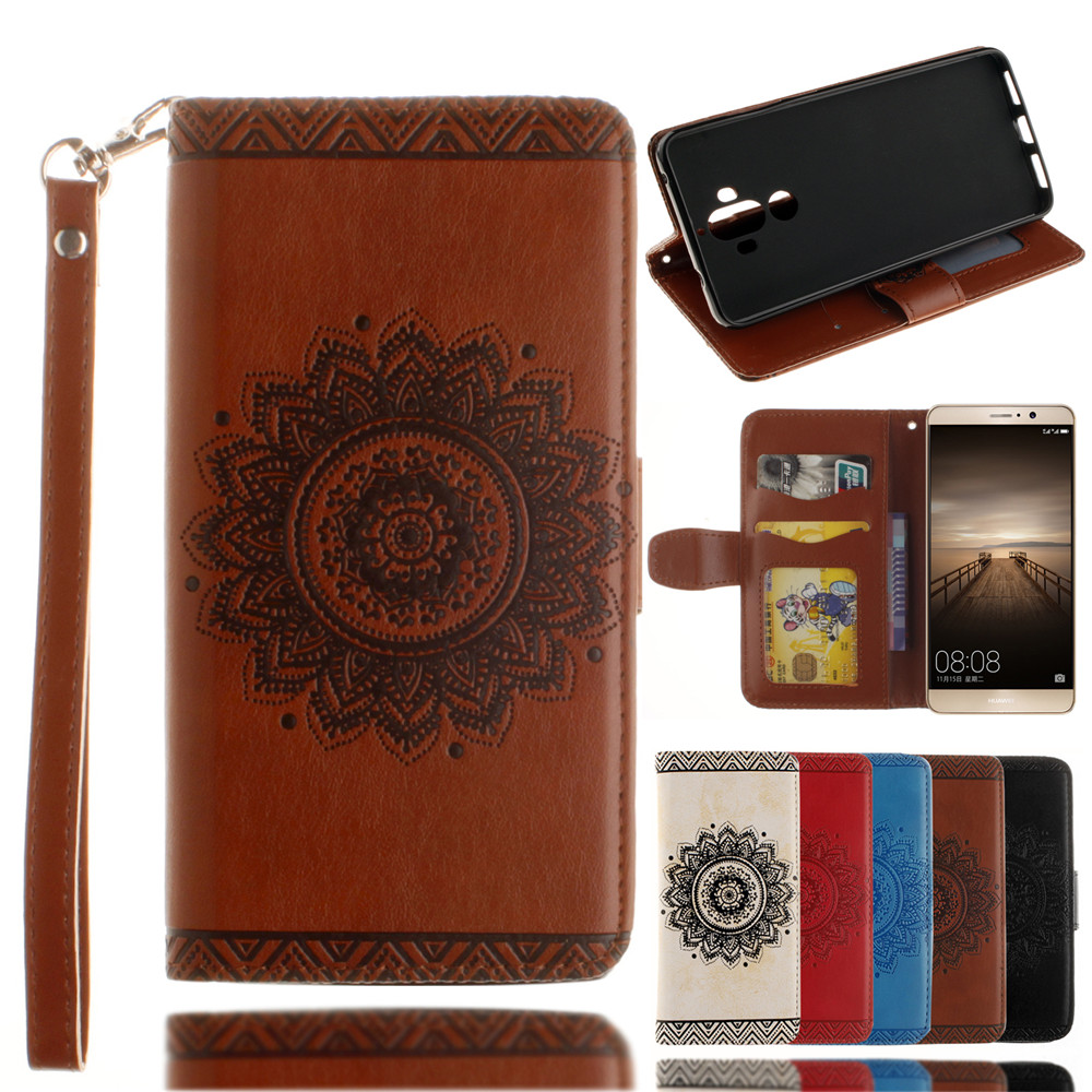 Luxury Retro Mandala Flip Leather Case For Huawei Mate 9