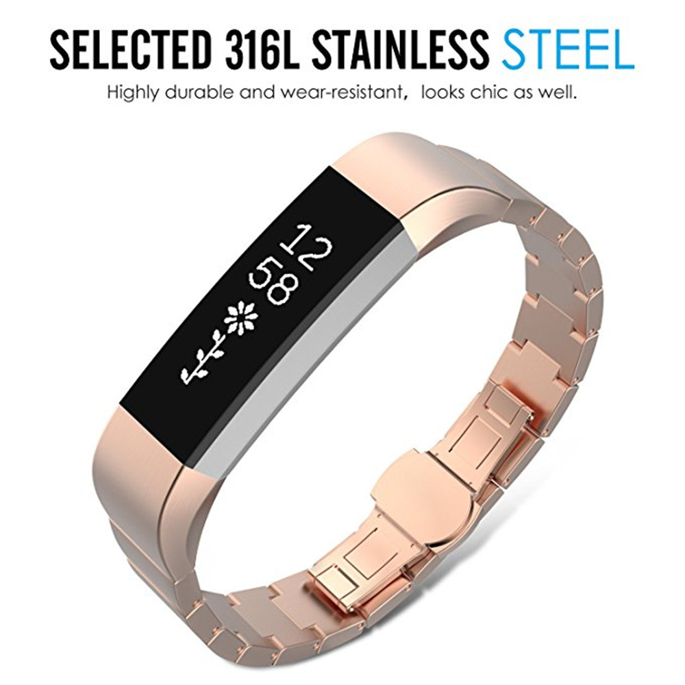 Replacement Luxury Stainless Steel Watch Band Wrist Strap For Fitbit Alta Hr Smartwatch Small Black Package Contents 1 X Wristband