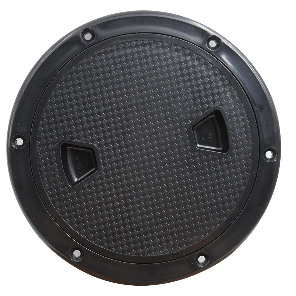 BLACK Boat Round Non Slip Inspection Hatch Detachable Cover