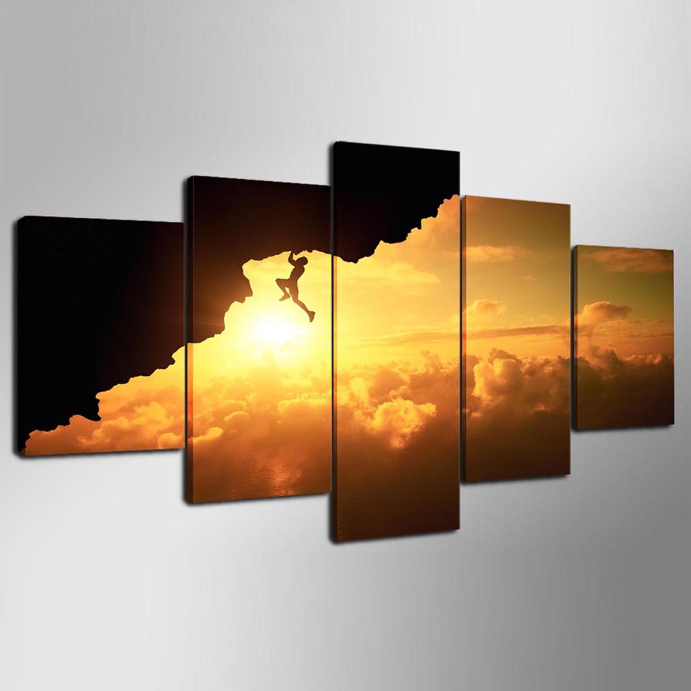 YSDAFEN 5 Piece Frameless Canvas Painting Modular Wall Art Pictures ...