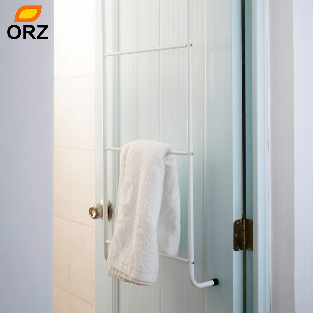 Over The Door Towel Rack Bathroom: ORZ 4 Layer Towel Racks White Over Door 4 Bars Clothes