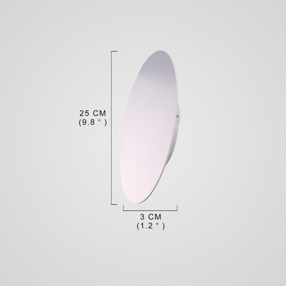 Modern Style LED Wall Lamp White Metal Round Shape Indoor for Bedside Lamp Pathway Dining  Bedroom Kids Living  Room