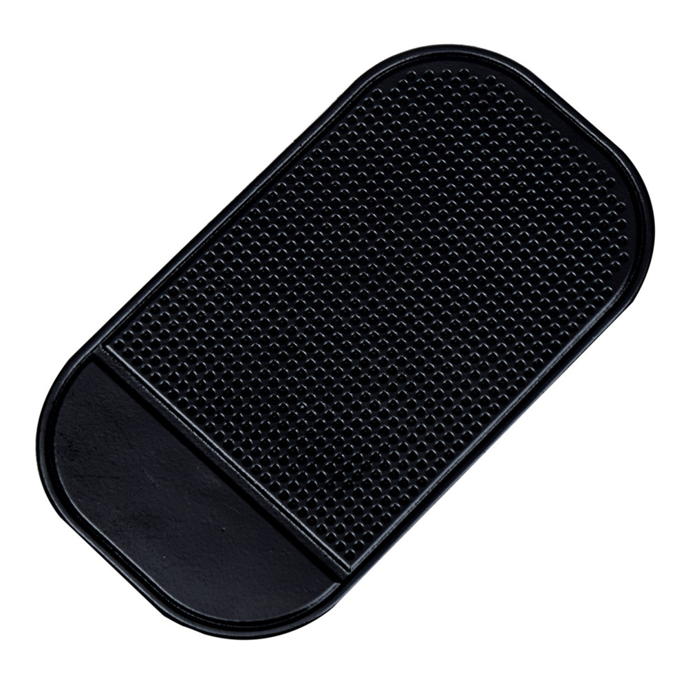 Car Anti-slip Mat Mobile Phone Non-skid Cushion- Black