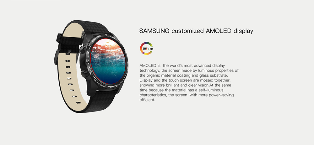 AllCall W1 3G Smartwatch Phone 1.39 inch Android 5.1 MTK6580 Quad Core 1.0GHz 2GB RAM 16GB ROM Heart Rate Monitor