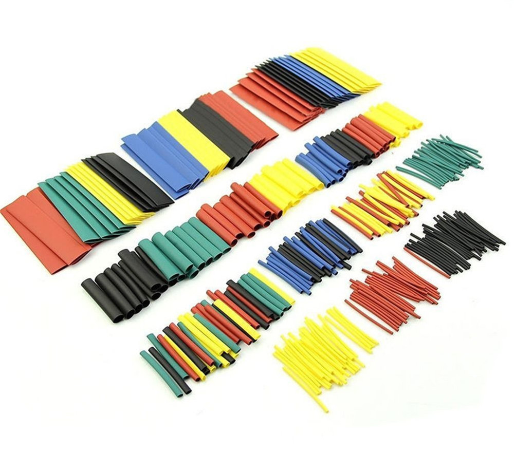 328PCS 2:1 Polyolefin Shrinking Assorted Heat Shrink Tube Wrap Wire Cable Insulated Sleeving Tubing Set
