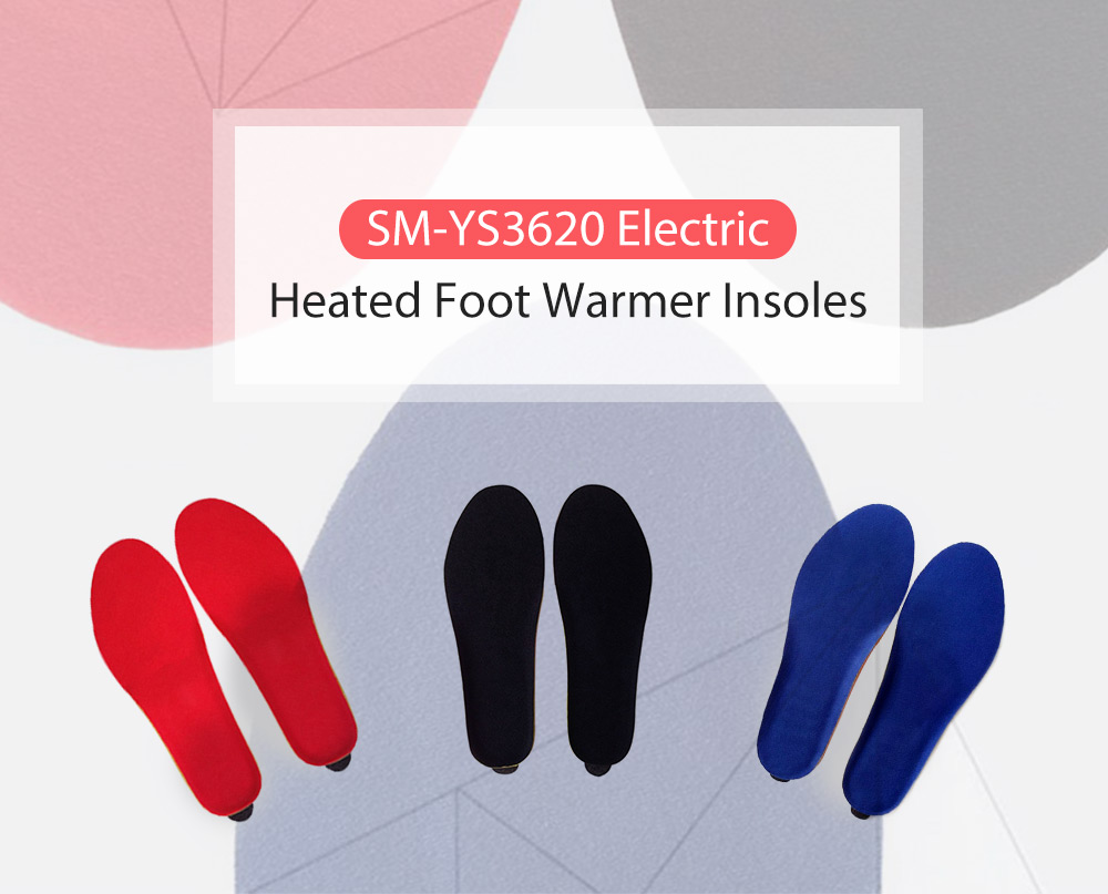 SM - YS3620 Electric Heated Foot Warmer Shoes Insoles Cut Adjustable Winter 2000mAh Rechargeable Battery