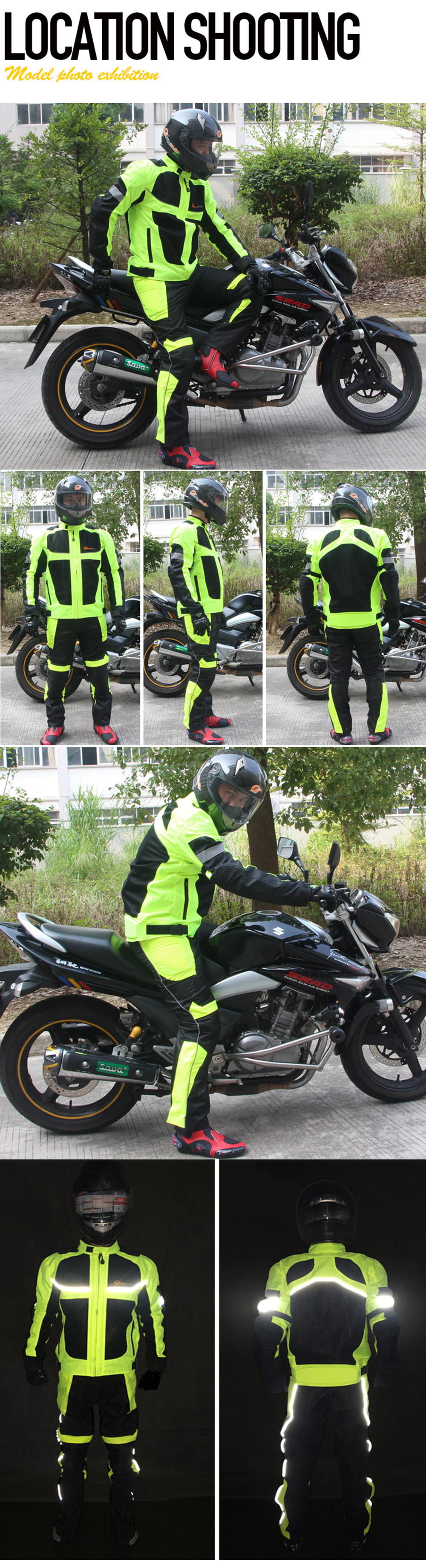 Riding Tribe JK - 21 Reflect Racing Winter Motorcycle Waterproof Jackets