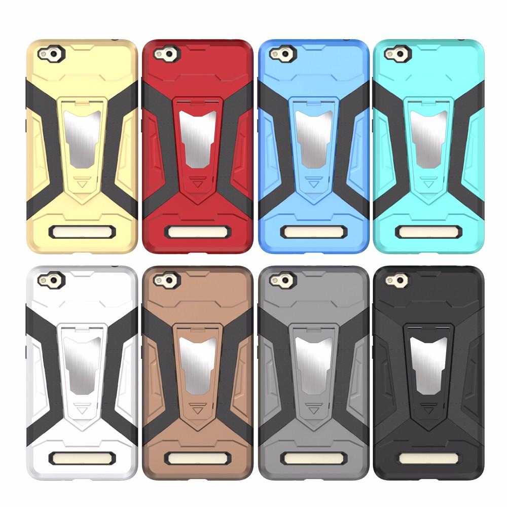 Luanke Armor Shockproof Rugged Soft TPU and Hard PC Protective Case with Kickstand for Xiaomi Mi 4A