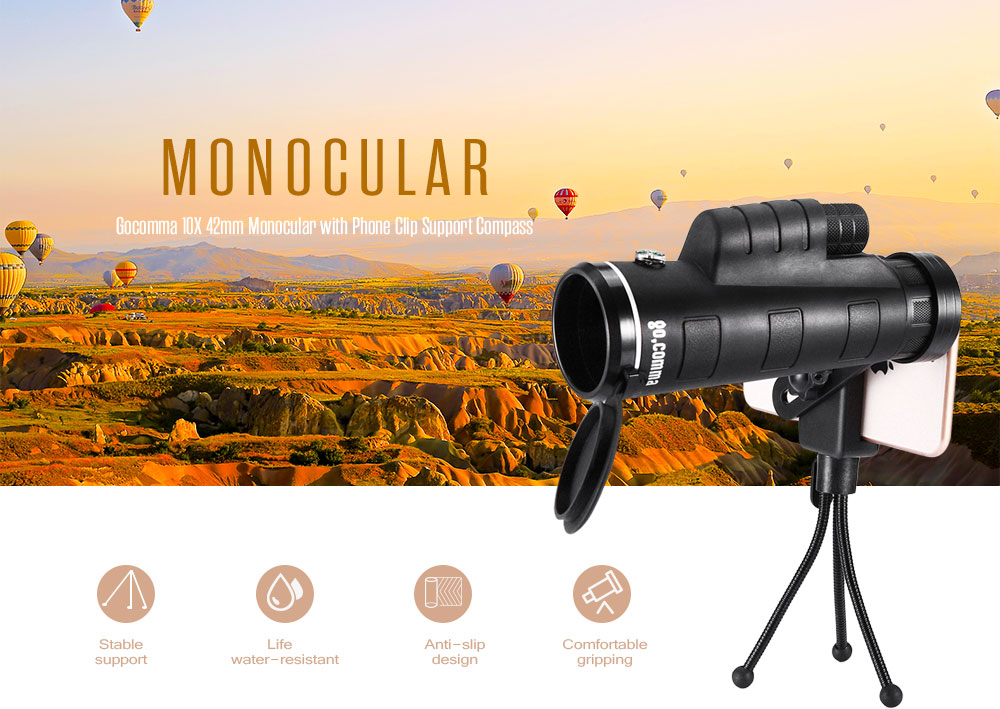 Gocomma mm monocular telescope with phone clip free