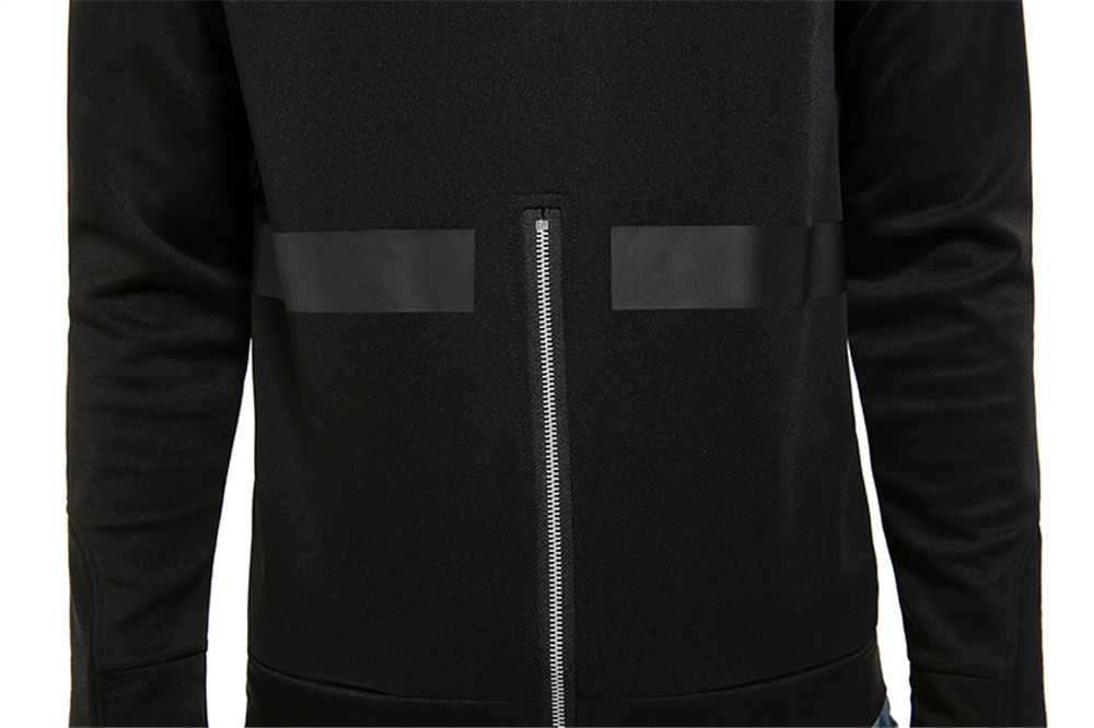 Mens Hoodies Brief Style Solid Color Casual Sport Hooded Tops with Zipper Decoration
