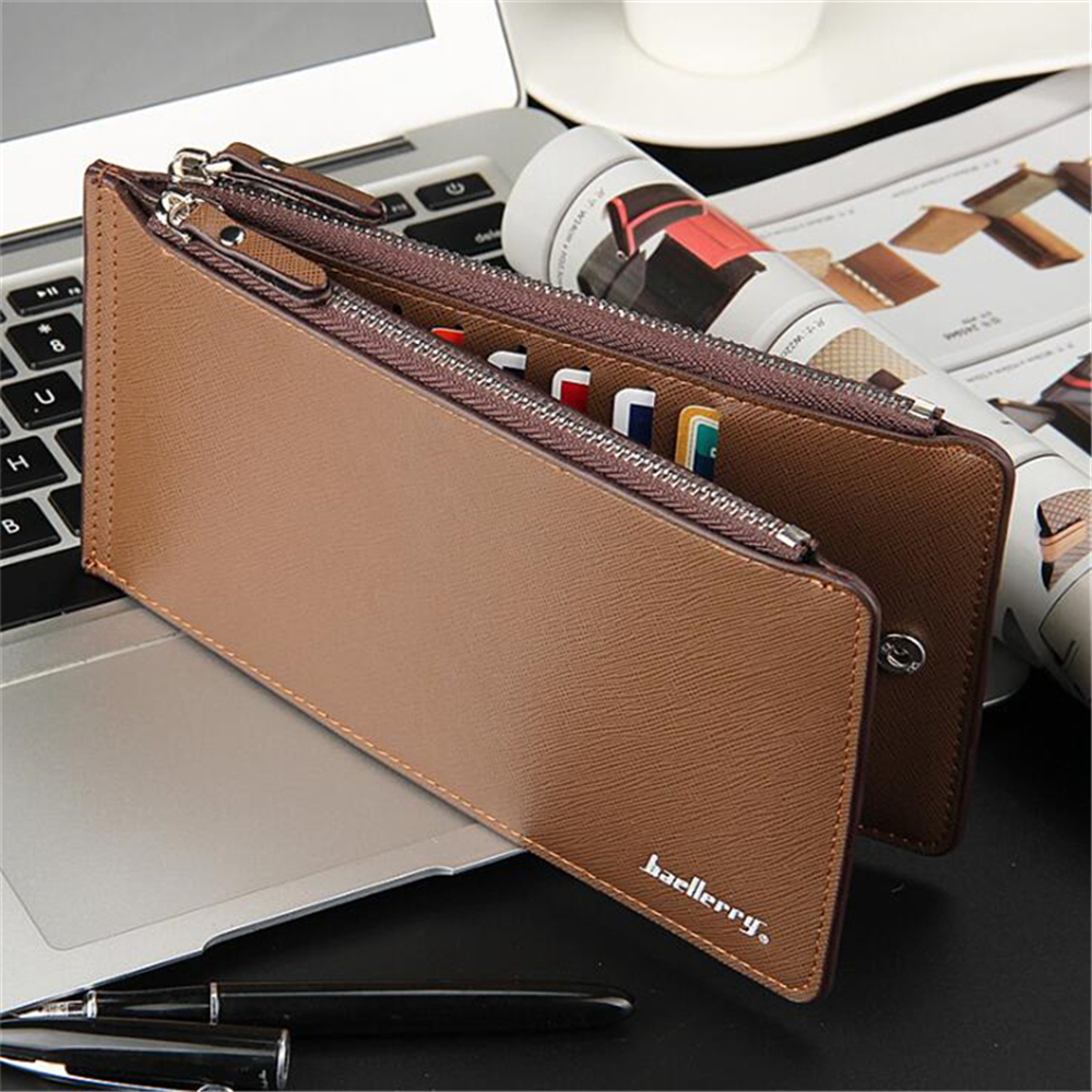 New Men Wallets PU Leather Wallet Cute Purse Clutches Coin Purse Cards Holder Bag for men