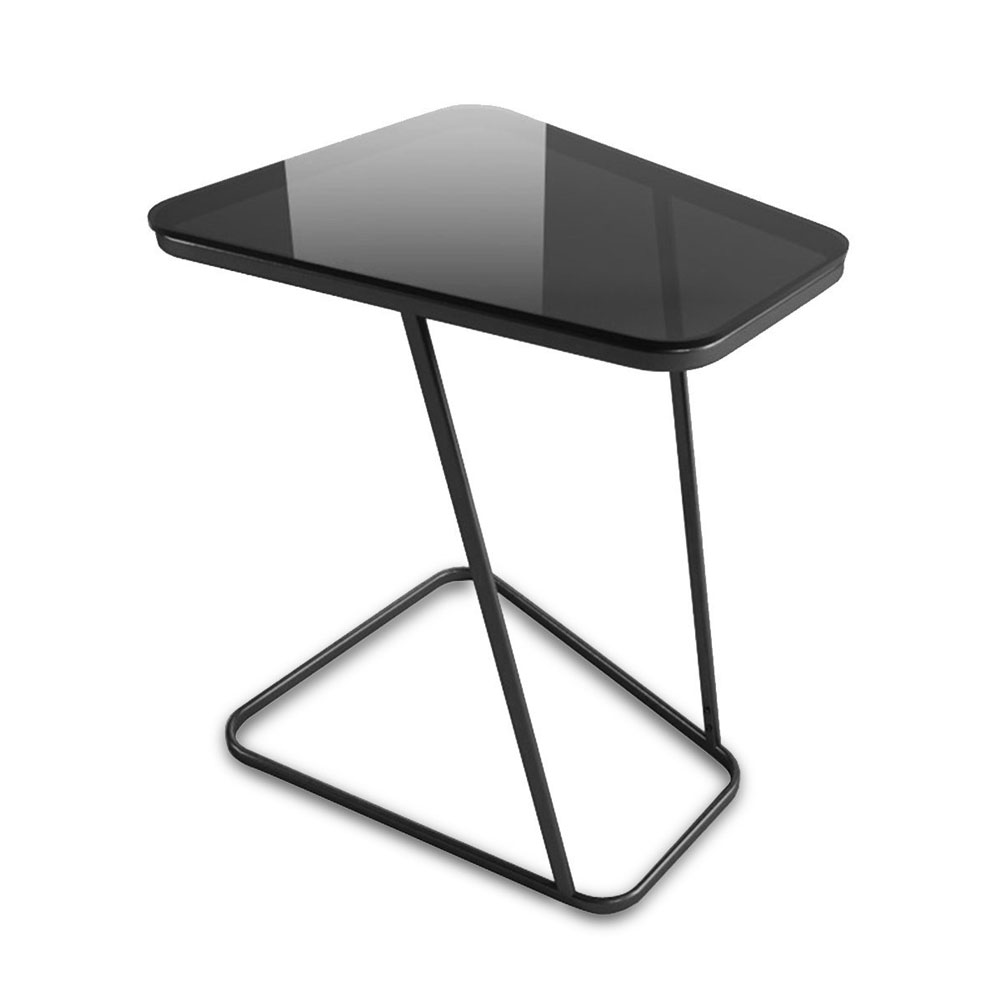 C Shape End Table Small Side Table Computer Tray Table For Living Room /  Bedroom