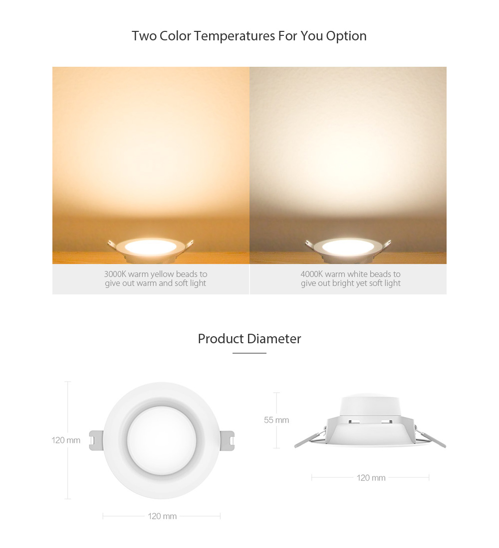 Xiaomi Yeelight Led Downlight Offered For Just 9 59