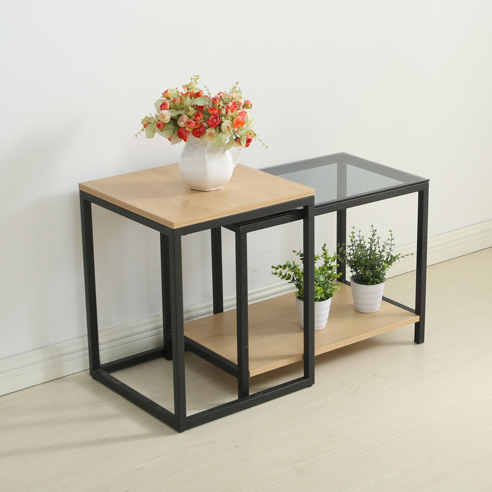 Nesting table set sofa side table with end table and materials nesting table set sofa side table with end table and materials included carbon steel and particleboard geotapseo Gallery