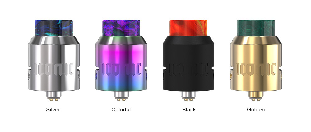 Vandy Vape iConic RDA with Dual Coils / Squonk Pin for E Cigarette