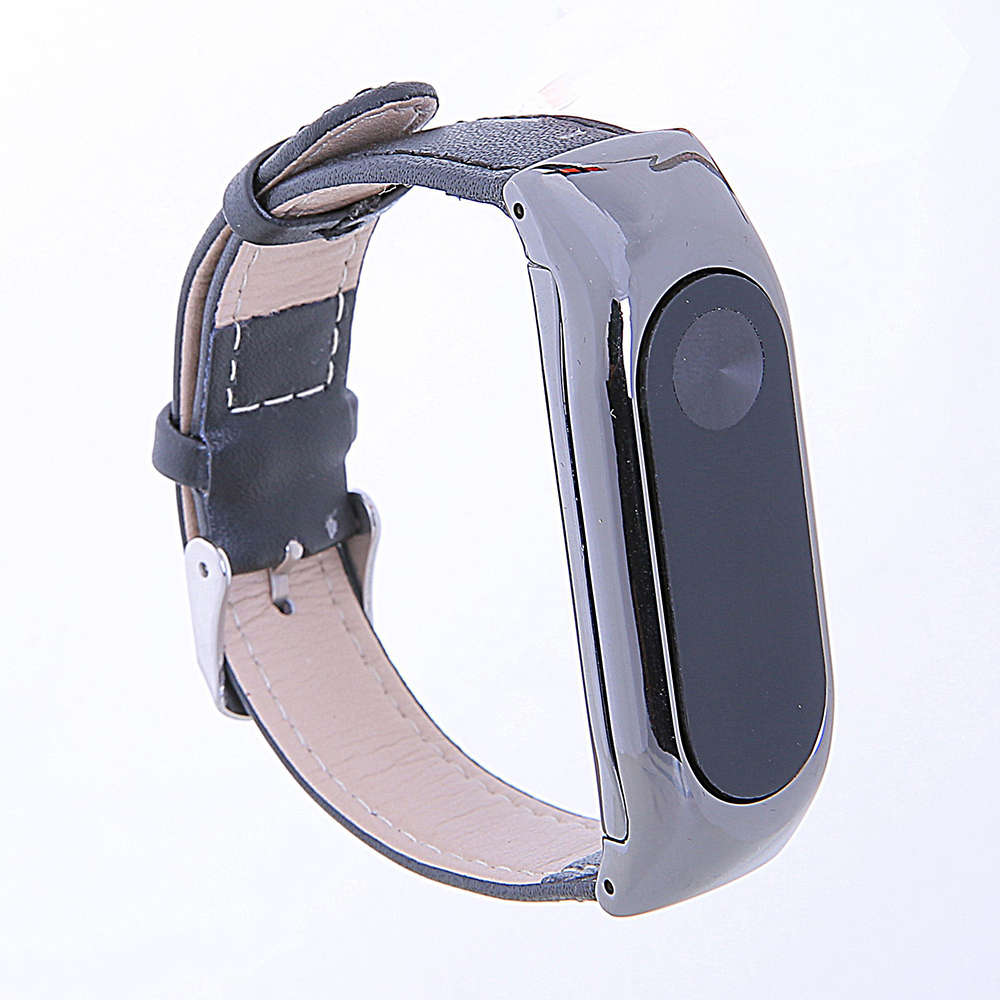 For Mi Band 2 Generation Leather Strap Bands Real Cow Wristband Xiaomi Smart Bracelet Wrist Blet Accessories- White