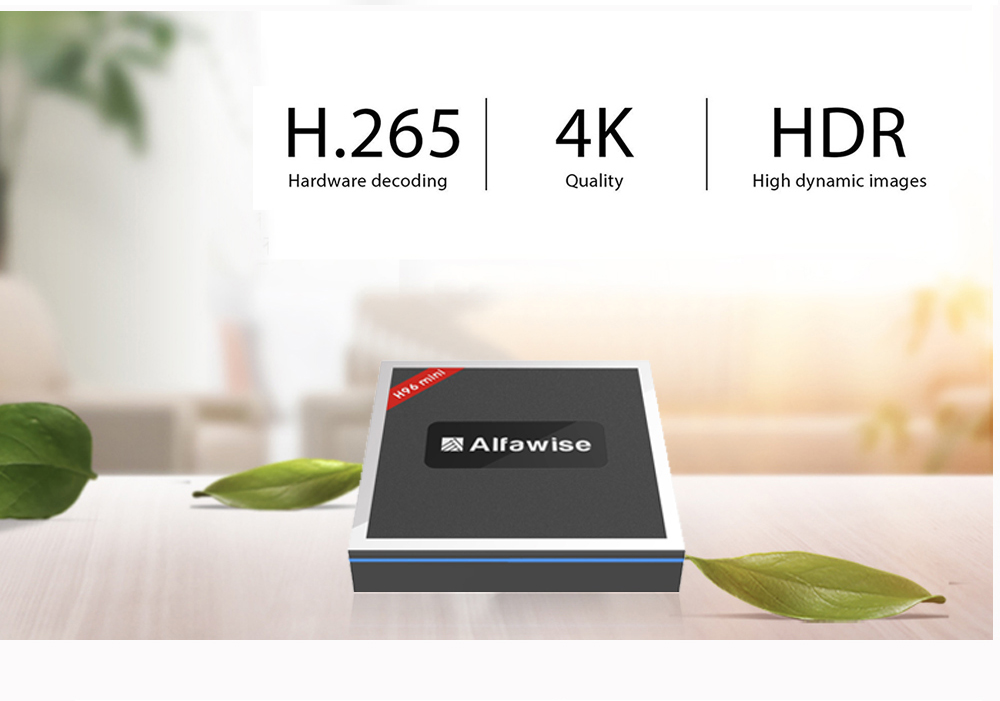 Alfawise H96 Mini TV Box Amlogic T962E 2GB RAM + 16GB ROM 4K Android 7.1 2.4G + 5G WiFi