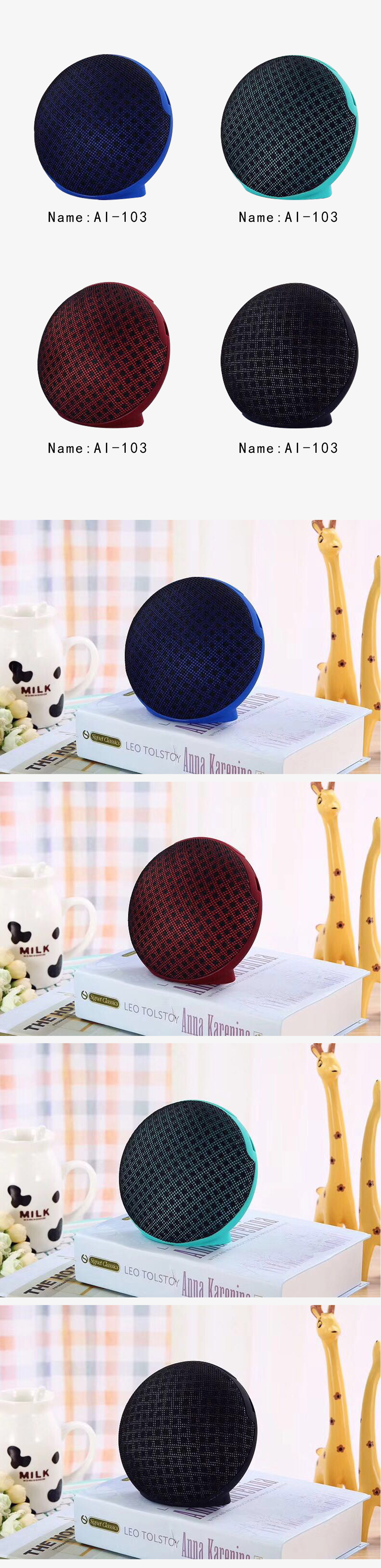 The jc-210 Music Satellite Bluetooth Portable Speakers With Low Sound- Blue