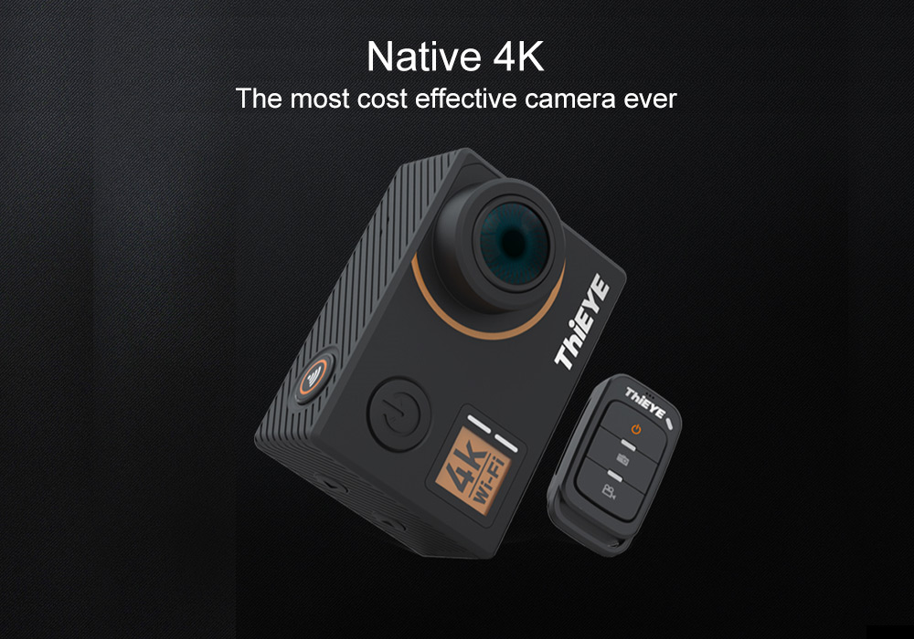 ThiEYE T5 Edge Native 4K WiFi Action Camera with Voice Commands Remote Control
