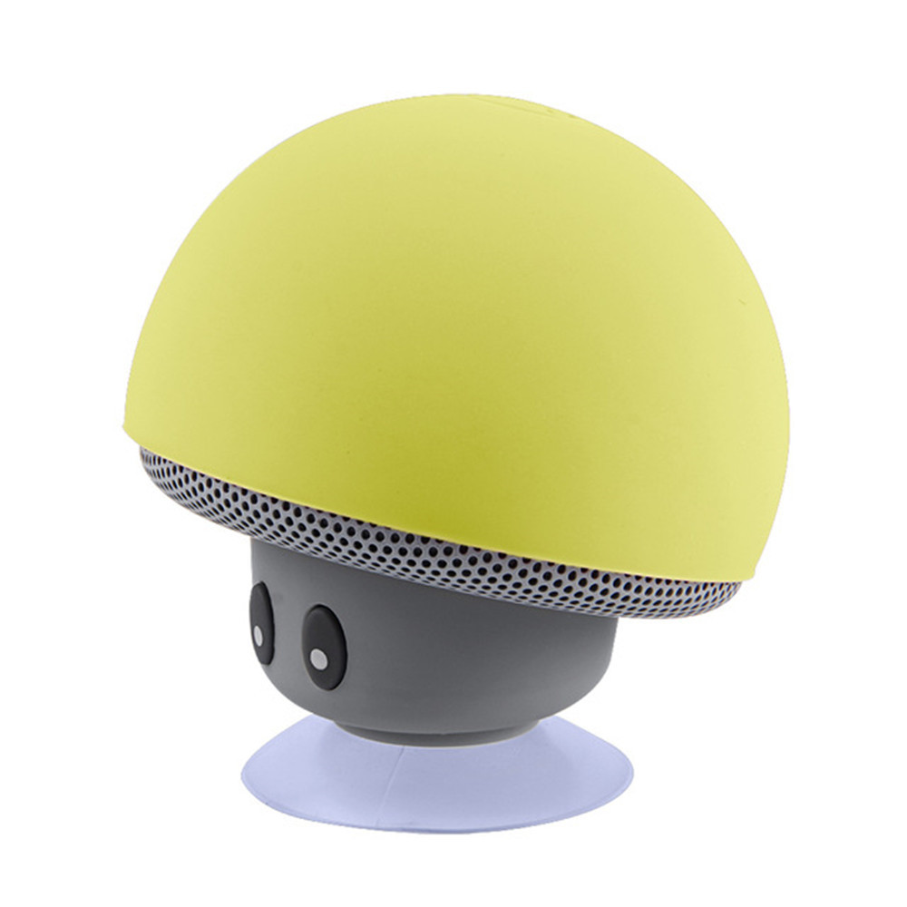 Mini Bluetooth Speaker Wireless Waterproof Loudspeaker Bluetooth Mushroom Portable Speakers Heavy Bass Stereo Music With- Green