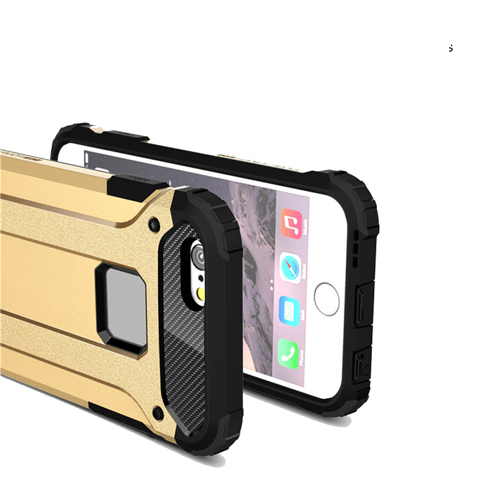 Ultra Thin Shockproof Rugged Impct Hybrid Armor Silicone Back Cover for iPhone 6 Plus / 6s Plus