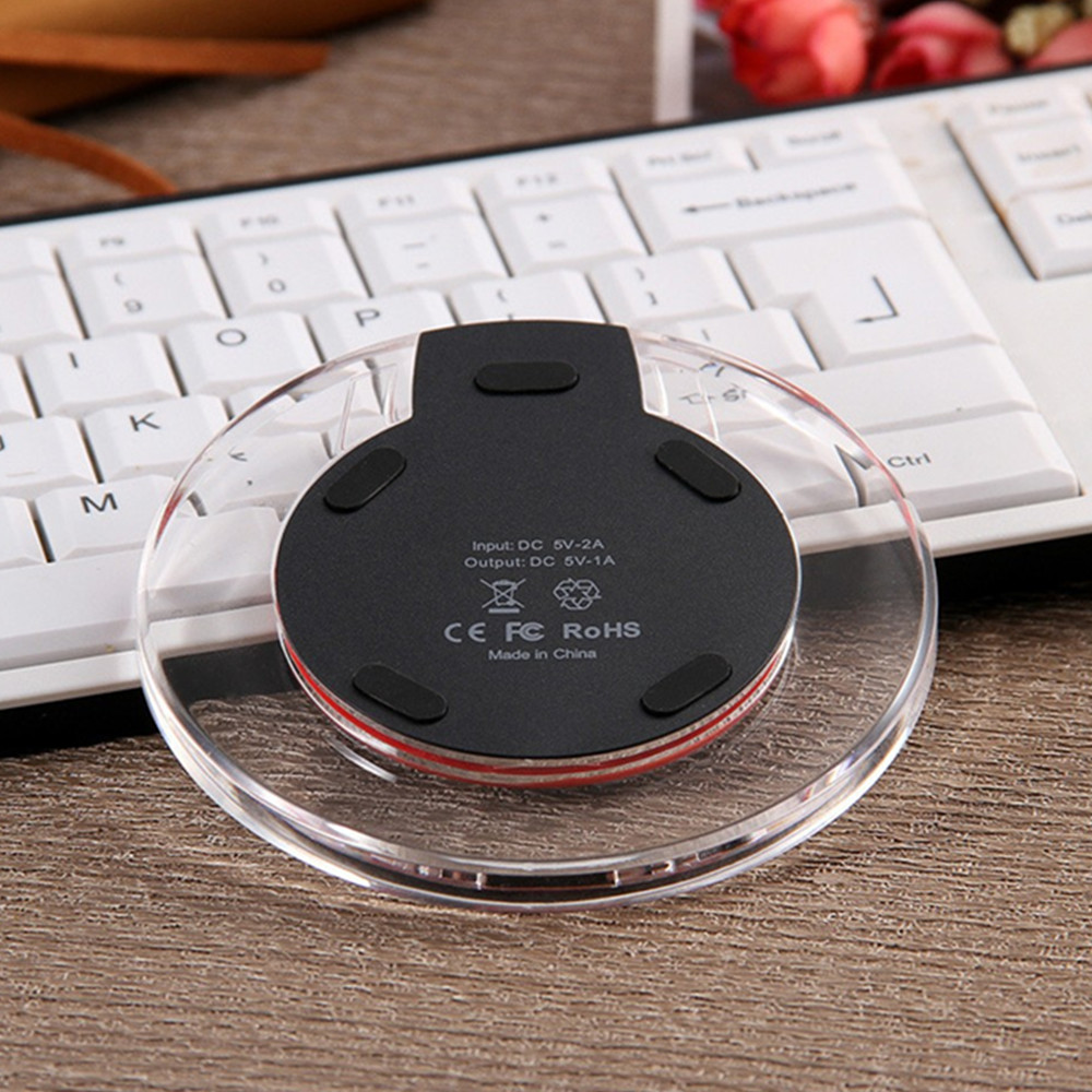 Wireless Charger Crystal for Qi-devices Vehicle Transmitter Qi Standard Transparent