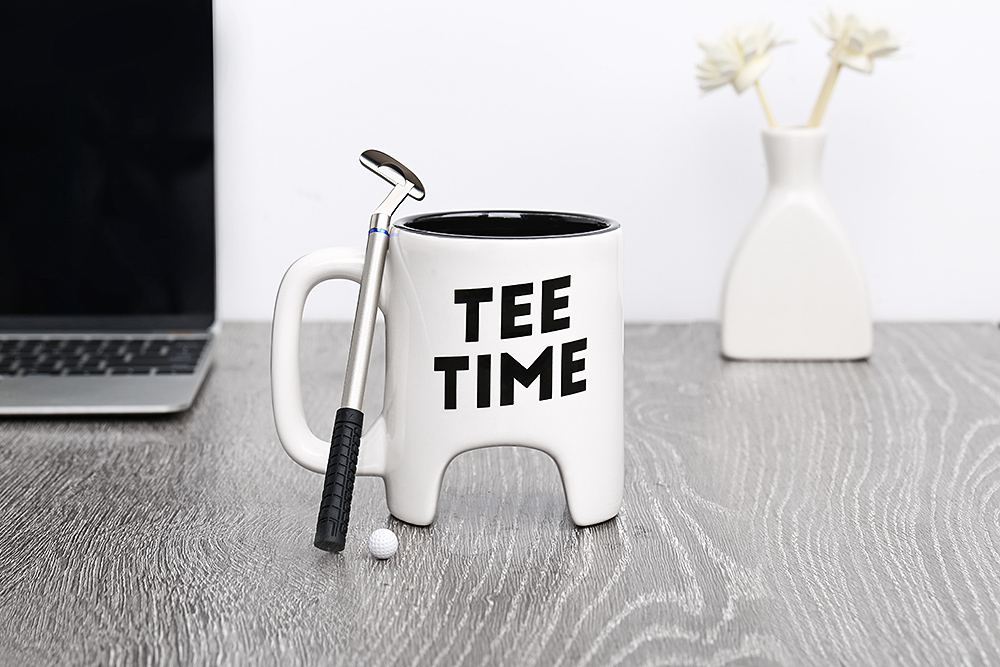 Elegant Golf Mug Set Ceramic Tabletop Cup for Tea Milk Coffee Water