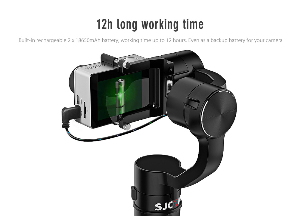 Original SJCAM SJ - GIMBAL 3-axis Stabilizer Photography PTZ for Action Camera