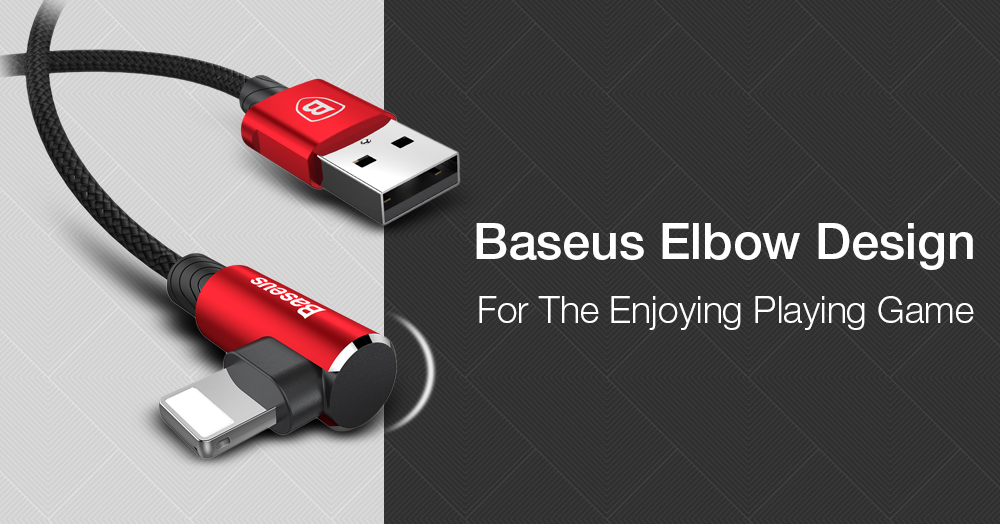 Baseus MVP 1.5A 8 Pin Elbow Design Fast Charging Data Cable 200cm for iPhone