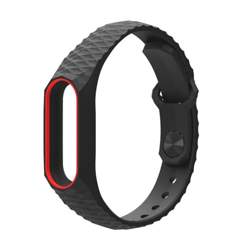Durable Replacement TPU Anti-off Wristband for Xiaomi Mi Band 2- Black