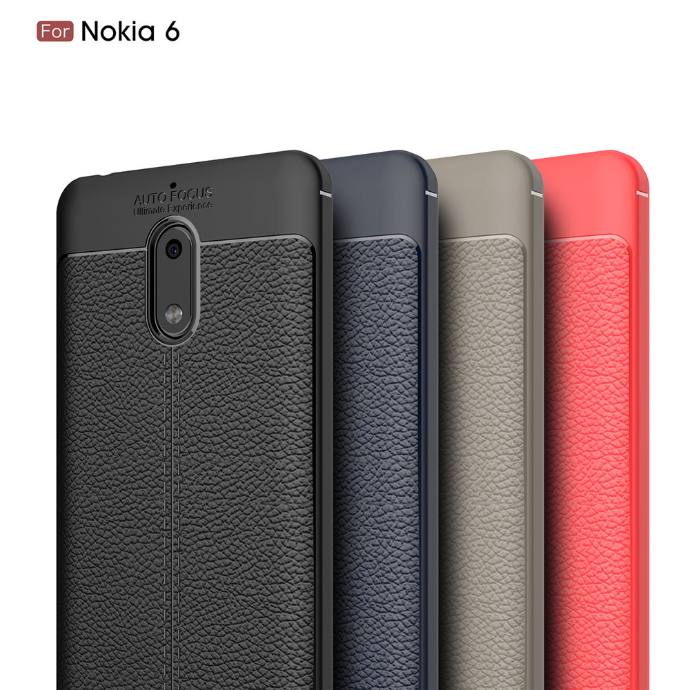 newest 725f8 53f9e Shockproof Back Cover Solid Color Soft TPU Case for Nokia 6