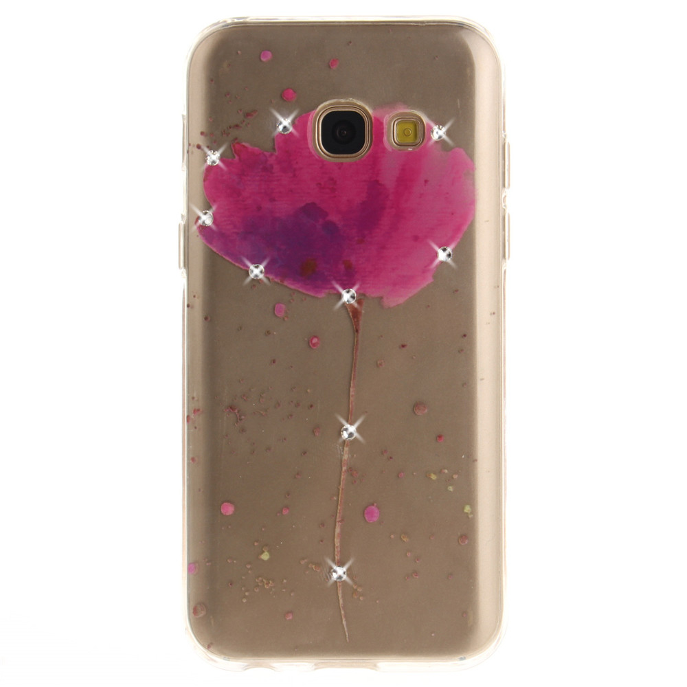 Song For Orchid Diamond Soft Clear IMD TPU Phone Casing Mobile Smartphone Cover Shell Case for Samsung A5 2017 A520